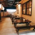 開放的なテラス席もご用意しております。10月以降は沖縄も涼しくなってくるので特にお勧めです!