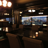 人気のガラス張りの半個室◆当店自慢のお洒落な空間!20名様規模の宴会にぜひご利用ください。