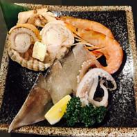 海鮮や、野菜盛りも♪