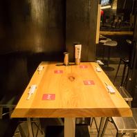 テーブル席は2名~OK♪会社絵帰りのちょい飲みにどうぞ