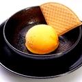 料理メニュー写真オレンジシャーベット/バニラアイス/抹茶アイス/ごまアイス