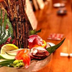 長浜市場からの鮮魚刺身盛り