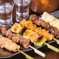 【焼き鳥】銘柄鶏の良いところを生かした逸品。人気メニュー秘伝かわ串、水炊きなどをはじめ様々な鶏料理を取り扱いしております。