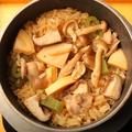 料理メニュー写真具だくさん!五目釜飯/やわらか鶏と甘みたっぷりのごぼうの釜飯