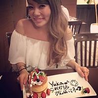 写メ必須!かわいいサプライズパンケーキでお祝い★