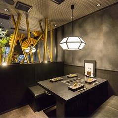 【1階:テーブル半個室】デザイナーズ空間で記念日デートや女子会を(2~4名様まで※お席は2時間制となります。)