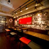 バルならではのハイテーブルで、お食事しながらおしゃべり♪いつもと違うご宴会がしたい、新しいお店を開拓したい、そんなお客様にお勧めです♪