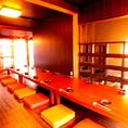 2階はお座敷個室で20名様まで収容可能♪