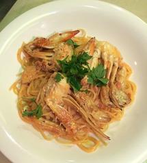 料理メニュー写真渡り蟹のトマトクリームスパゲティ