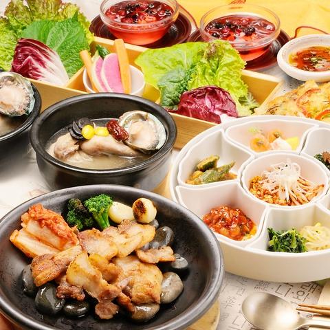 新鮮なお野菜で身体の中から綺麗に!!駅直結のタカシマヤ13F韓国料理