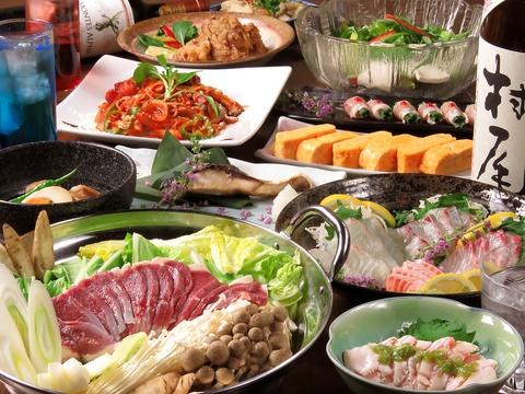 旬の食材を使ったコースが大人気!!一次会~二次会~大歓迎