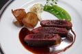 料理メニュー写真エゾシカのステーキ