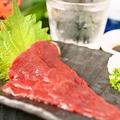 料理メニュー写真熊本のゴリゴリの馬刺し