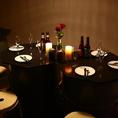 薄暗い照明が照らすこちらのフロアはオトナの隠れ家にぴったり◎時間を忘れてゆったり宴会を、、、
