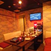 カラオケ付き個室!!6名からご利用頂け、完全個室でプライベートパーティも有りです♪人気のお席の為ご予約はお早めに!!