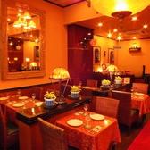 歓送迎会・記念日・結婚式の2次会等のご利用に最適!豪華なインテリアとムーディーな音楽で癒しの空間を演出!歓送迎会、飲み会、女子会、パーティー等、多彩な利用シーンに対応可。インド人シェフが作る伝統的なインド料理に加え、現代風にアレンジした創作料理もご用意。