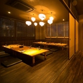 最大70名様までご利用頂ける掘りごたつ個室です。ゆったりとお寛ぎ頂ける、こちらの空間は宴会に最適のお部屋となります。