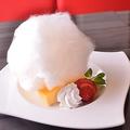 料理メニュー写真自家製アイスクリームブリュレ