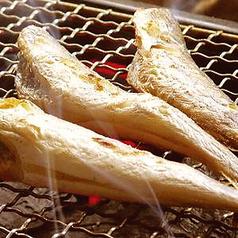 コマイ炭火焼/塩サバ炭火焼き/豚とろ味噌鉄板焼き/つくねのもちもち水餃子