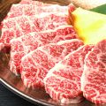 料理メニュー写真中落ちカルビ/和牛ハラミ