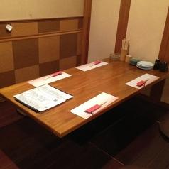 半個室のテーブル席♪落ち着いた店内でゆったりと