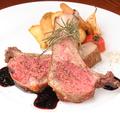 料理メニュー写真仔羊のロースト、バルサミコソース