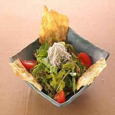 しらすと揚げ湯葉のサラダ