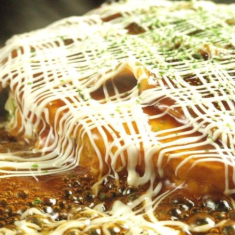 鉄板で焼くお好み焼きは最高★みんなでわいわい食べ放題を楽しんで♪