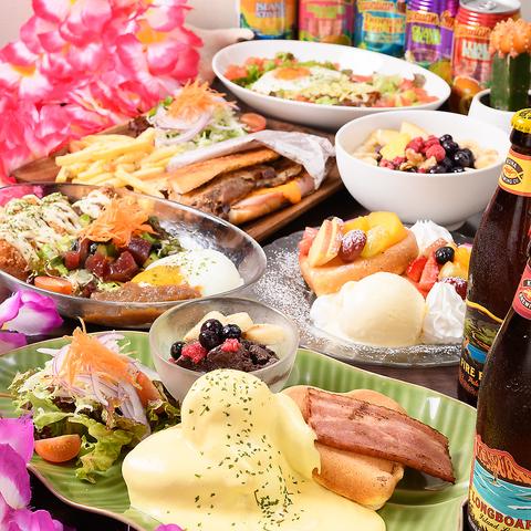 健康的なメニューやパンケーキが1日中楽しみながらハワイ気分を味わえるカフェ◎