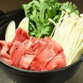 料理メニュー写真道産牛すき焼き雪屋風(一人前)