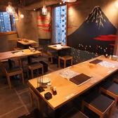フジヤマを望むテーブル席