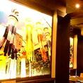 壁面には有名な【仙台の七夕祭り】ご出張の方も仙台の雰囲気が味わえてよりご満足頂けるかも◎