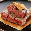 料理メニュー写真A-5国産黒毛和牛ロース 銘柄、値段は黒板にて!!