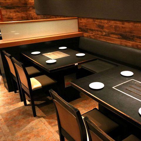 女子会や飲み会、会社宴会などグループでのご利用にもおすすめのテーブル席 !