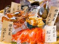 漁港直送の旬魚や農園朝採れ野菜が大人気!