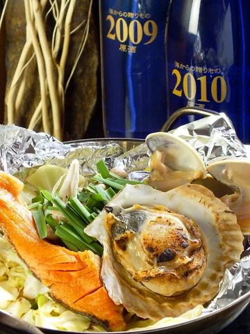 全国各地の漁港から仕入れた海鮮を刺身・浜焼きにしてお召し上がりいただけます!