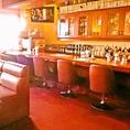 パブスペースにはバーカウンター!生ビール、カクテル、ウィスキー、泡盛、日本酒、ワイン等アルコールドリンク充実!