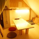 女子会やママ会にも★お洒落なカーテンで囲まれたお座敷個室。