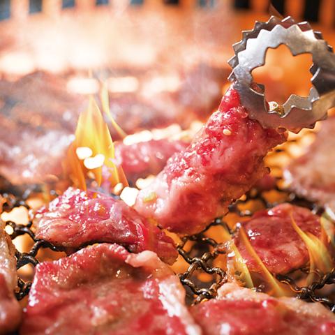 【食べ放題★大満足安楽亭コース】大人気 牛ハラミ、炙りミスジ含む110品以上!