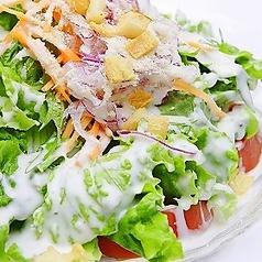 料理メニュー写真シーザースサラダ/オニオンサラダ/トマトサラダ/大根サラダ/ほうれん草サラダ