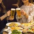 ドリンクの種類も豊富です!全国各地の地酒を多数ご用意しておりますのでお酒好きにはたまりません!その他にも定番のビールやカクテルもございますのでお好みの一杯をお愉しみください!飲み放題付プランもございますのでそちらも是非!