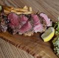 料理メニュー写真アンガス牛のステーキ ワカモレソース