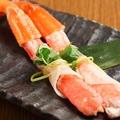 料理メニュー写真ずわい蟹の千枚漬け巻き