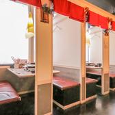 暖簾で区切られている半個室。ご友人や会社帰りにサクッとご利用できます!2次会にもピッタリです♪
