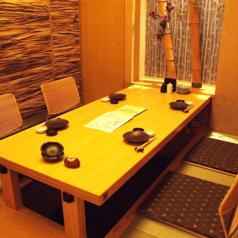 天井まで閉鎖された完全個室。横浜西口で接待に利用ができるお店をお探しの方におすすめです。
