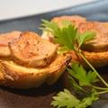 料理メニュー写真フォアグラと有機味噌のカナッペ