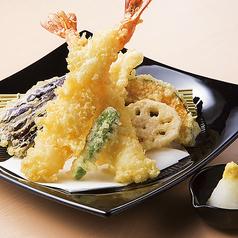 料理メニュー写真大海老の天ぷら盛り合わせ