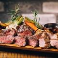 料理メニュー写真国産黒毛和種 A3山形牛、ブランド豚TOKYO X、大山鶏胸肉盛り合わせ<450g>