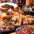 2時間飲み放題付コースは3500円から!宴会料理でも串カツ・お好み焼など「まっちゃん」の看板メニューをお楽しみいただけます!
