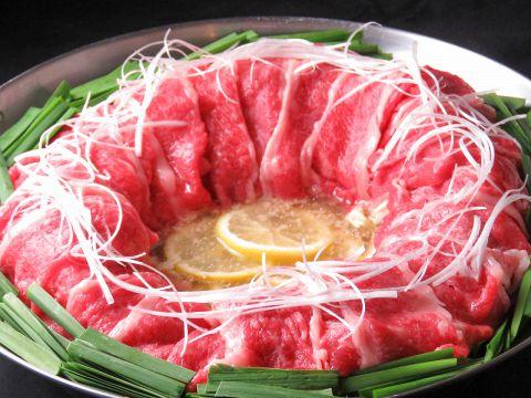 牛炊き鍋コース【2H飲放付き料理9品】(+500円でドリンクメニュー全て飲み放題!)